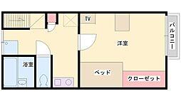 スカイ土山[203号室]の間取り
