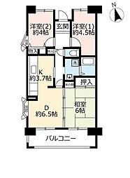 UR都島リバーシティ 2階3DKの間取り