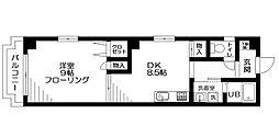 東京都台東区元浅草3丁目の賃貸マンションの間取り