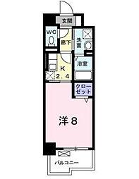 プランドール[6階]の間取り