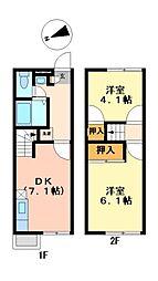 兵庫県姫路市北今宿2丁目の賃貸アパートの間取り