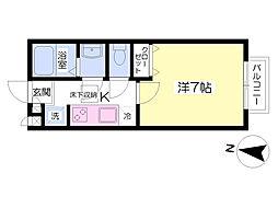 西武池袋線 富士見台駅 徒歩9分の賃貸アパート 1階1Kの間取り