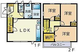 [テラスハウス] 神奈川県川崎市宮前区馬絹 の賃貸【/】の間取り