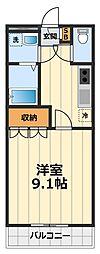 神奈川県海老名市東柏ケ谷6丁目の賃貸マンションの間取り