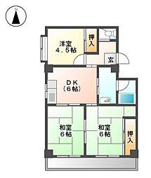 コーポフローラ[2階]の間取り