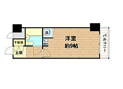 兵庫県神戸市中央区栄町通6丁目の賃貸マンションの間取り