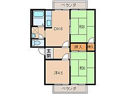 ANNEX[2階]の間取り