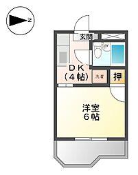 パークハイツ江尻[2階]の間取り