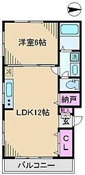 東京都北区東十条4丁目の賃貸マンションの間取り