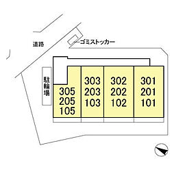 (仮)D-room飯山満町 A[205号室]の外観