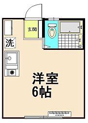 コーポ宮崎[1階]の間取り