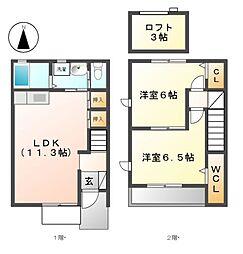 グリーンハイツI・II[2階]の間取り