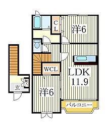エピナールI[2階]の間取り