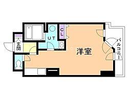 UURコート札幌南三条プレミアタワー 15階ワンルームの間取り
