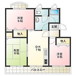 橋川マンション2[3階]の間取り