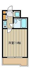 東京メトロ有楽町線 千川駅 徒歩6分の賃貸マンション 1階1Kの間取り