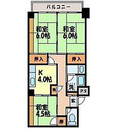 八坂ハイツ[201号室]の間取り