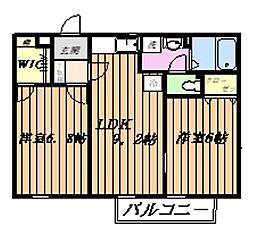 ガーデンコートK[2階]の間取り