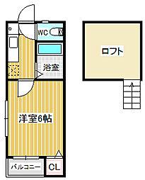 愛知県名古屋市中川区乗越町3丁目の賃貸アパートの間取り