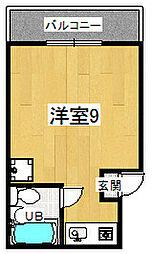 サンライズ嵯峨[4階]の間取り