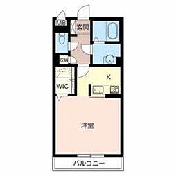 大阪府堺市堺区九間町西3丁の賃貸マンションの間取り