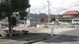 武蔵増戸駅ロータリーから見た分譲地