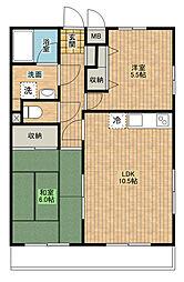 マンションユーカリ[2階]の間取り