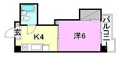 レジデンス市駅南[2B 号室号室]の間取り