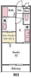 埼玉県坂戸市伊豆の山町の賃貸アパートの間取り