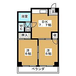 さくらマンション[2階]の間取り