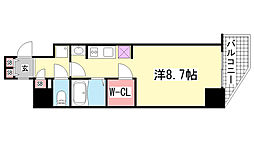 兵庫県神戸市中央区海岸通5丁目の賃貸マンションの間取り