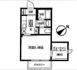 コーラルヒルズ東戸塚シングルステージ[101号室]の間取り