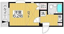 埼玉県戸田市笹目6丁目の賃貸アパートの間取り