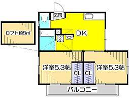 Mコート[2階]の間取り