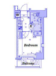 横浜市営地下鉄ブルーライン 弘明寺駅 徒歩5分の賃貸マンション 3階1Kの間取り