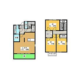 [テラスハウス] 静岡県袋井市春岡 の賃貸【/】の間取り