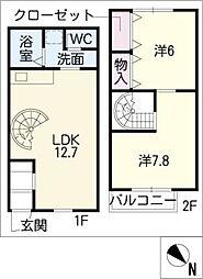 [タウンハウス] 愛知県名古屋市緑区高根台 の賃貸【愛知県 / 名古屋市緑区】の間取り
