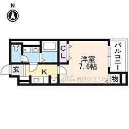 JR東海道・山陽本線 桂川駅 徒歩15分の賃貸マンション 3階1Kの間取り