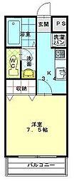 大阪府東大阪市上小阪2丁目の賃貸アパートの間取り