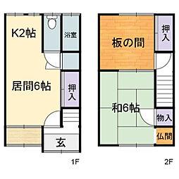 久保田荘[2号号室]の間取り
