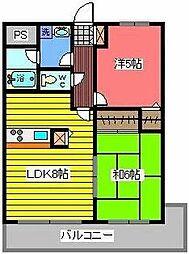 西川口パインマンション2[3階]の間取り