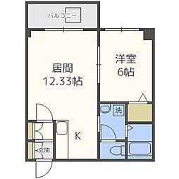 北海道札幌市北区北二十二条西2の賃貸マンションの間取り
