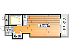 メゾン阪南[5階]の間取り