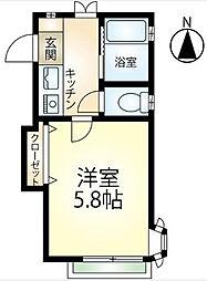 エスポワールAWA[2階]の間取り