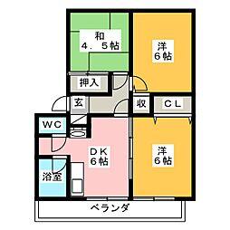 第七ショーケービル[2階]の間取り