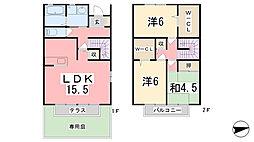 [テラスハウス] 兵庫県揖保郡太子町太田 の賃貸【/】の間取り