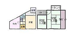 [一戸建] 大阪府門真市新橋町 の賃貸【/】の間取り
