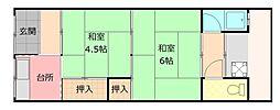 [一戸建] 大阪府八尾市緑ヶ丘4丁目 の賃貸【/】の間取り