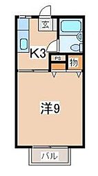 トーキューハイツ本町通1号棟[105号室]の間取り