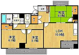 ポートサイド・博多[5階]の間取り